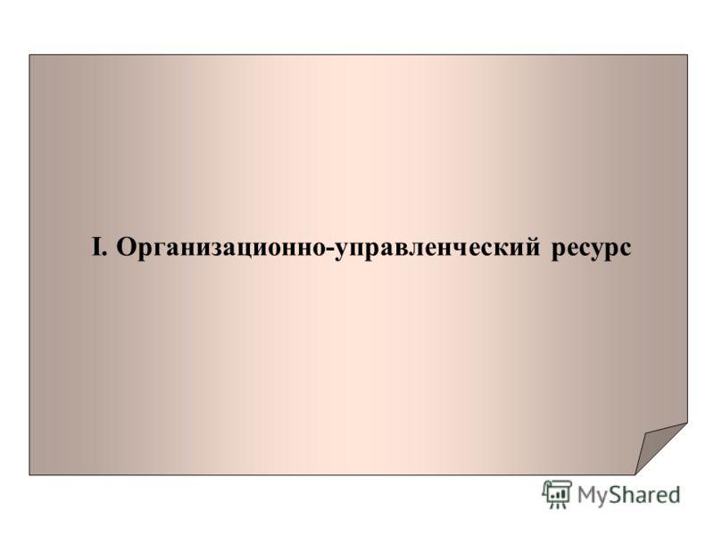 I. Организационно-управленческий ресурс