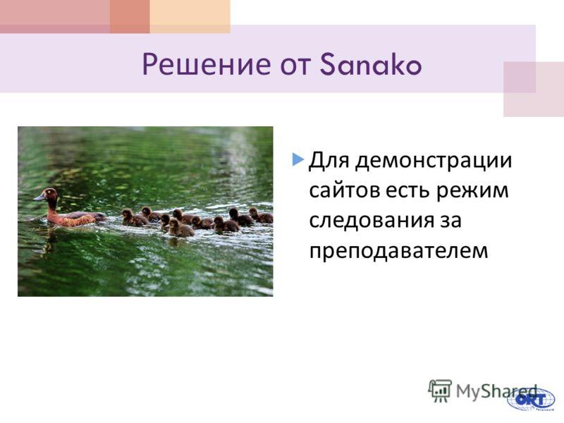 Решение от Sanako Для демонстрации сайтов есть режим следования за преподавателем
