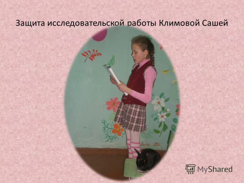 Защита исследовательской работы Климовой Сашей