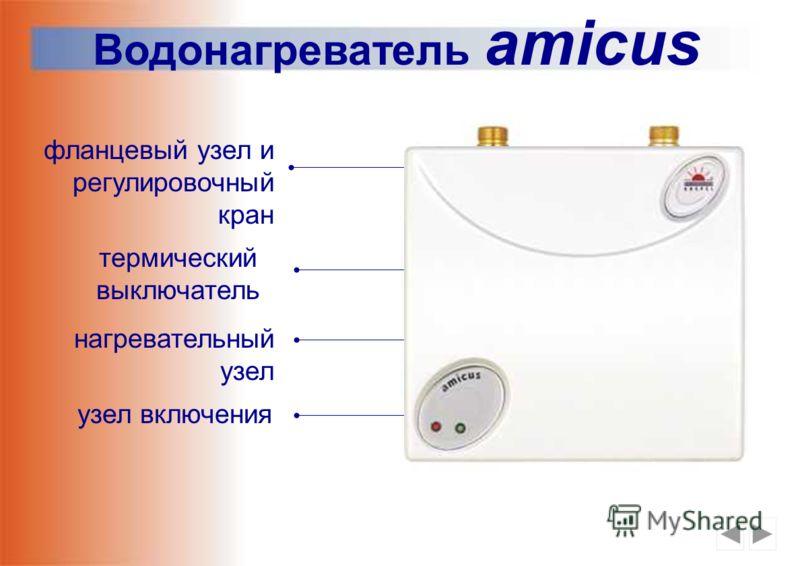 Водонагреватель amicus для работы под давлением, совместимость с любым смесителем подключение к 1 или 3 фазной электросети мелкоструйный рассекатель грелки в медном корпусе