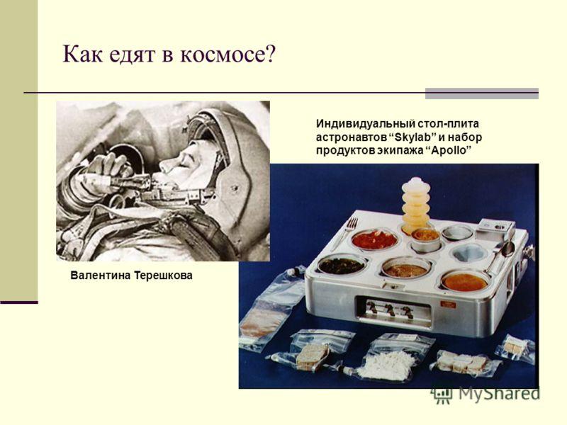 Как едят в космосе? Валентина Терешкова Индивидуальный стол-плита астронавтов Skylab и набор продуктов экипажа Apollo