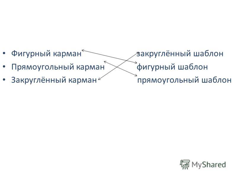 Фигурный карман закруглённый шаблон Прямоугольный карман фигурный шаблон Закруглённый карман прямоугольный шаблон