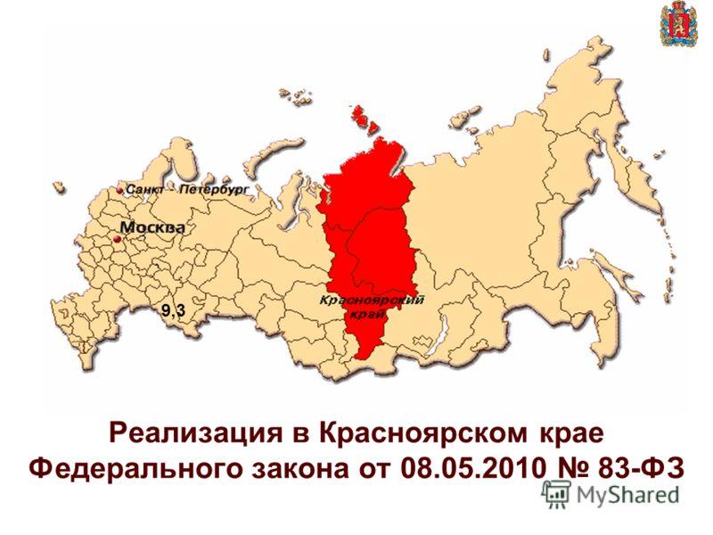 Реализация в Красноярском крае Федерального закона от 08.05.2010 83-ФЗ 9,3