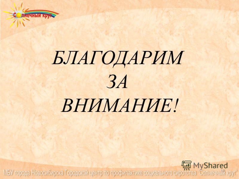БЛАГОДАРИМ ЗА ВНИМАНИЕ! 18
