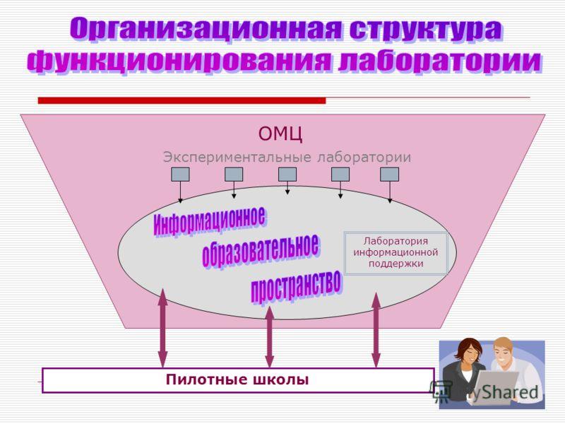 ОМЦ Экспериментальные лаборатории Лаборатория информационной поддержки Пилотные школы