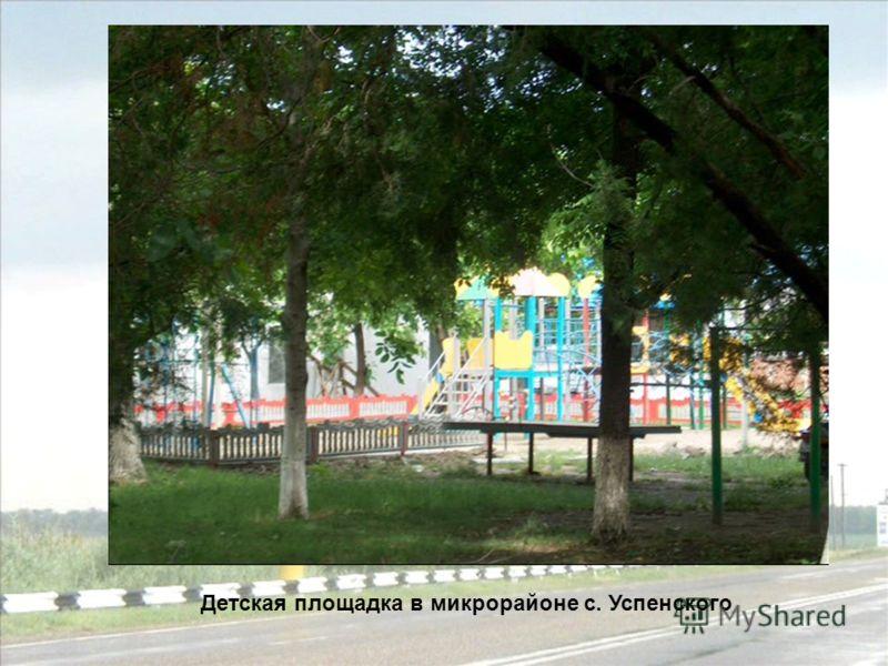 Детская площадка в микрорайоне с. Успенского