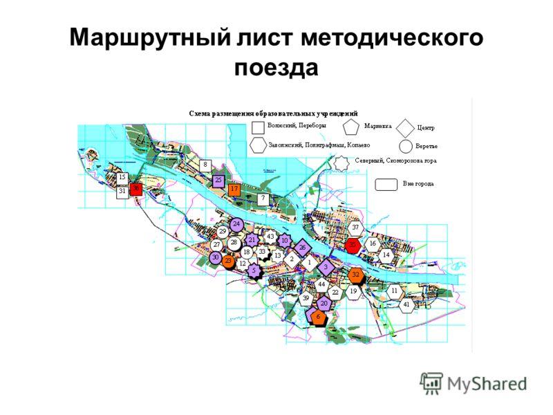 Маршрутный лист методического поезда