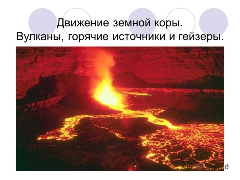 Движение земной коры. Вулканы, горячие источники и гейзеры.