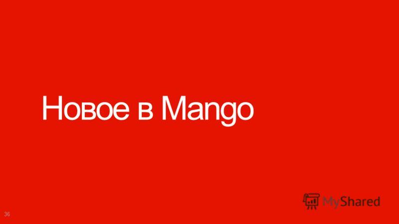 Windows Phone Microsoft confidential. Новое в Mango 36