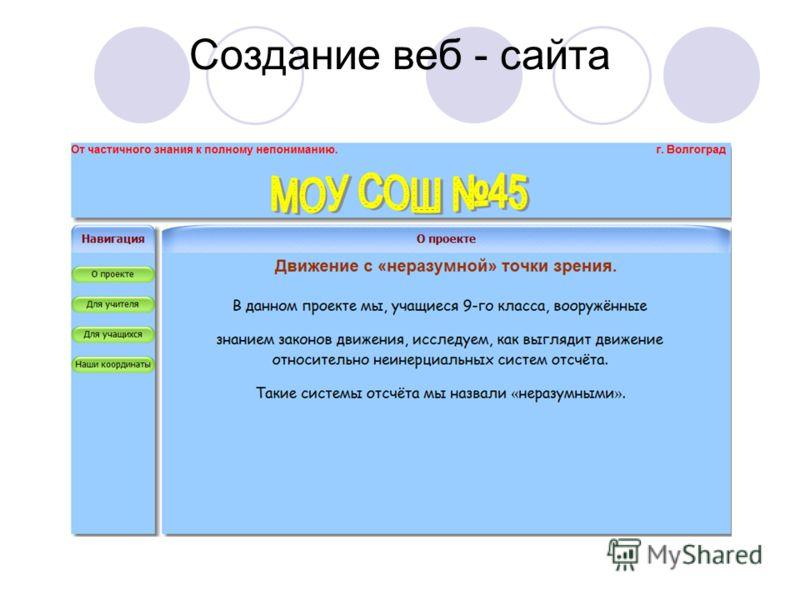 Создание веб - сайта