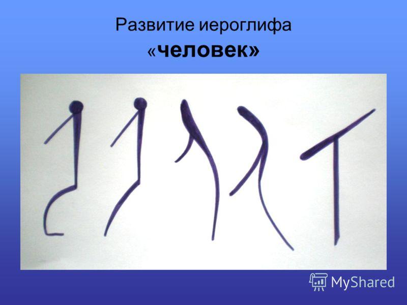 Развитие иероглифа « человек»