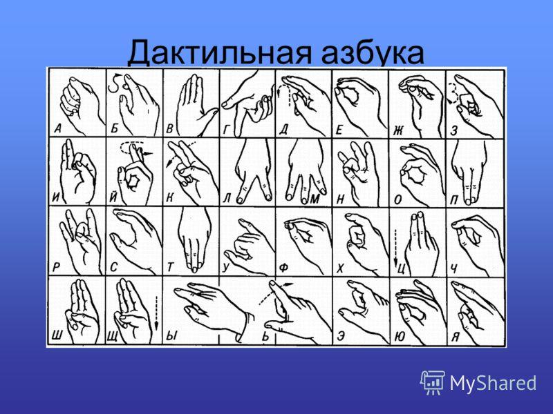 Дактильная азбука