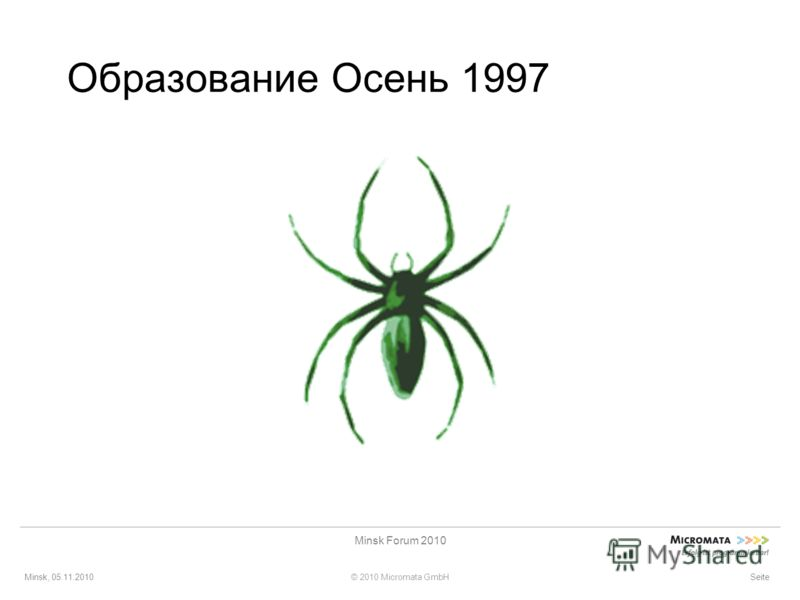 Minsk, 05.11.2010© 2010 Micromata GmbH Minsk Forum 2010 Seite Образование Осень 1997