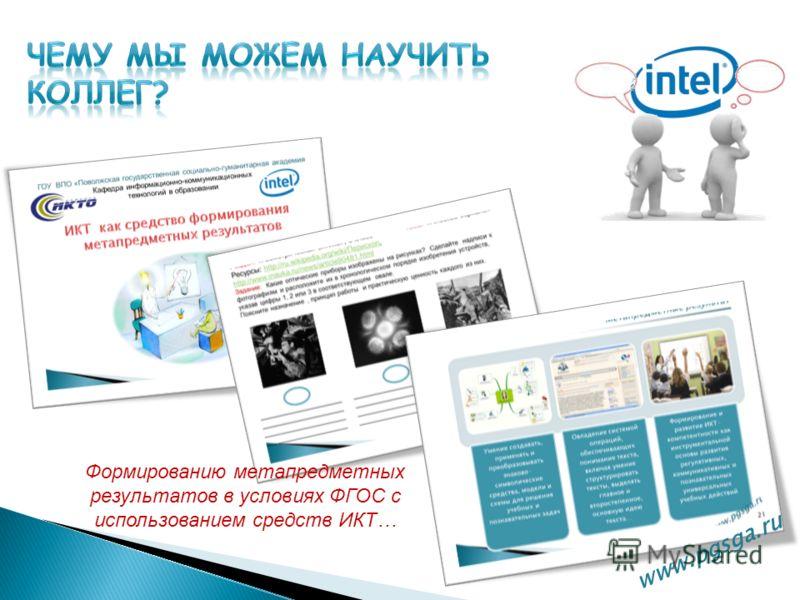 www.pgsga.ru Формированию метапредметных результатов в условиях ФГОС с использованием средств ИКТ…
