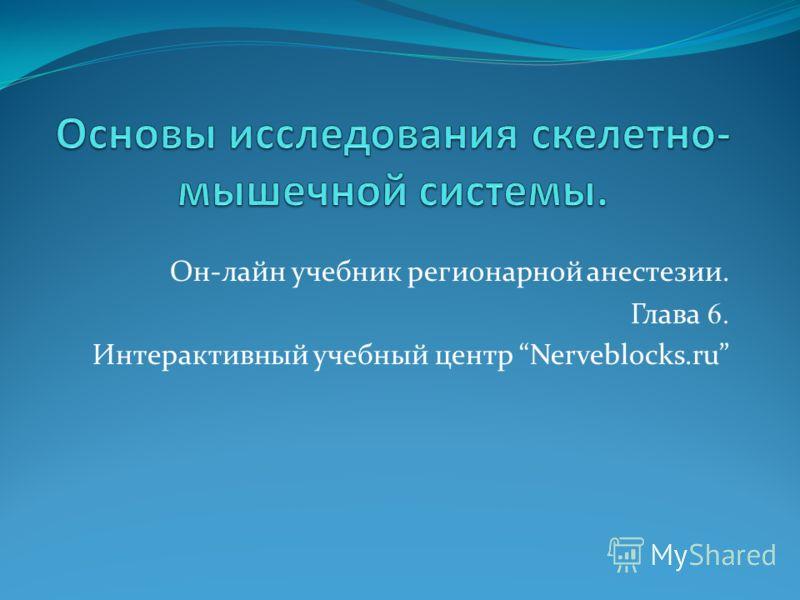 Он-лайн учебник регионарной анестезии. Глава 6. Интерактивный учебный центр Nerveblocks.ru