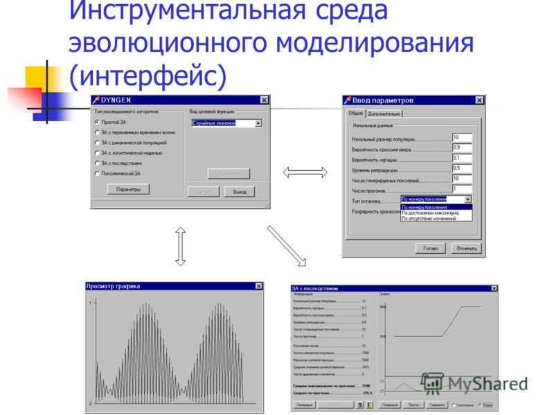 Инструментальная среда эволюционного моделирования (интерфейс)