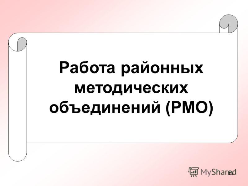 36 Работа районных методических объединений (РМО)