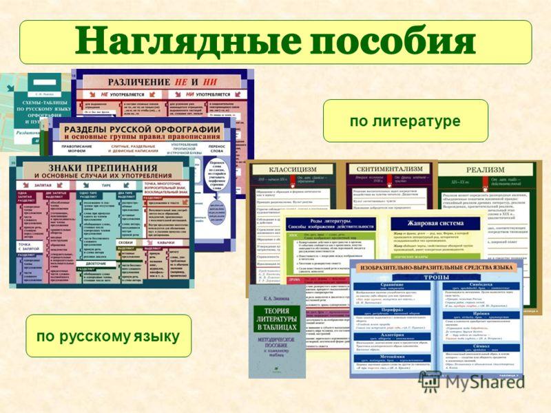 по русскому языку по литературе