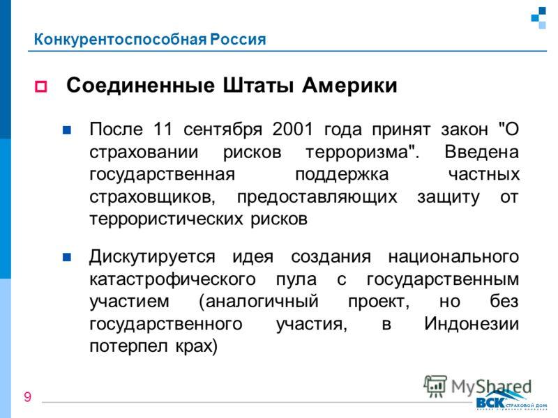 Конкурентоспособная Россия Соединенные Штаты Америки После 11 сентября 2001 года принят закон