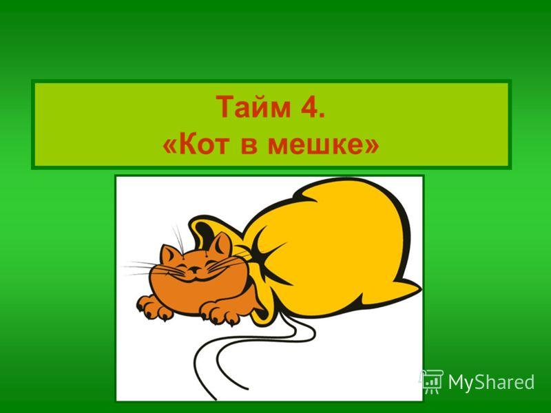 Тайм 4. «Кот в мешке»