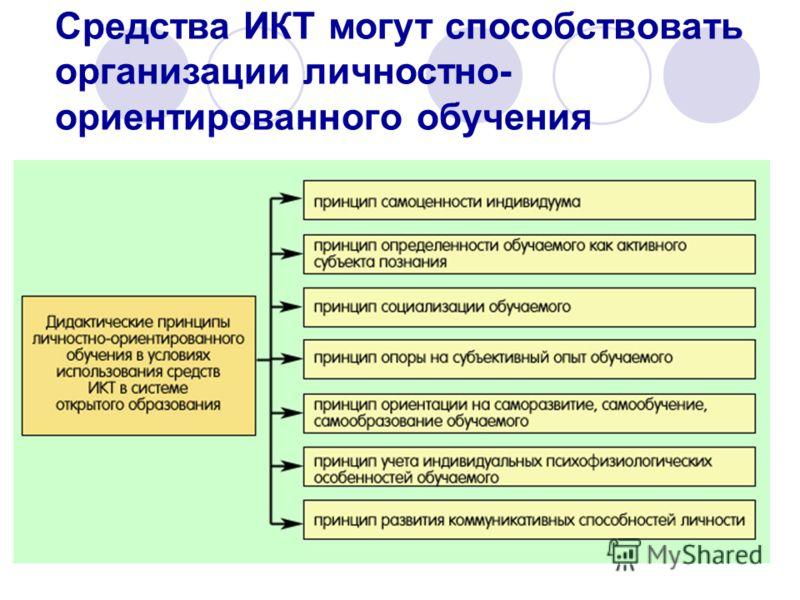 Средства ИКТ могут способствовать организации личностно- ориентированного обучения