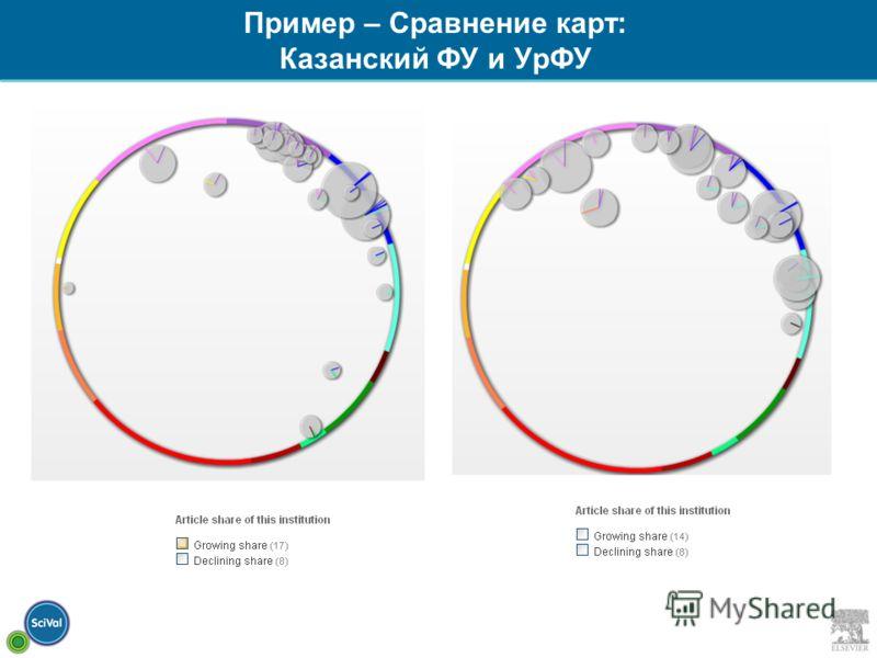 Пример – Сравнение карт: Казанский ФУ и УрФУ