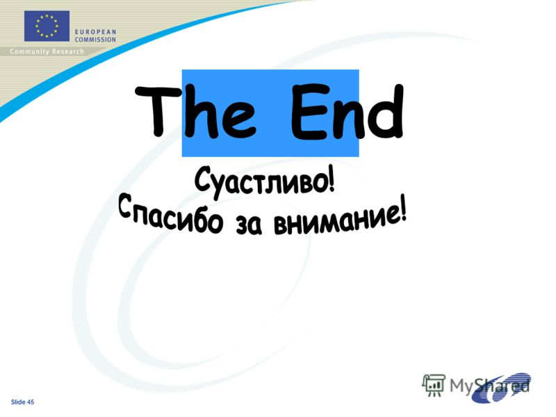 Slide 45 The End