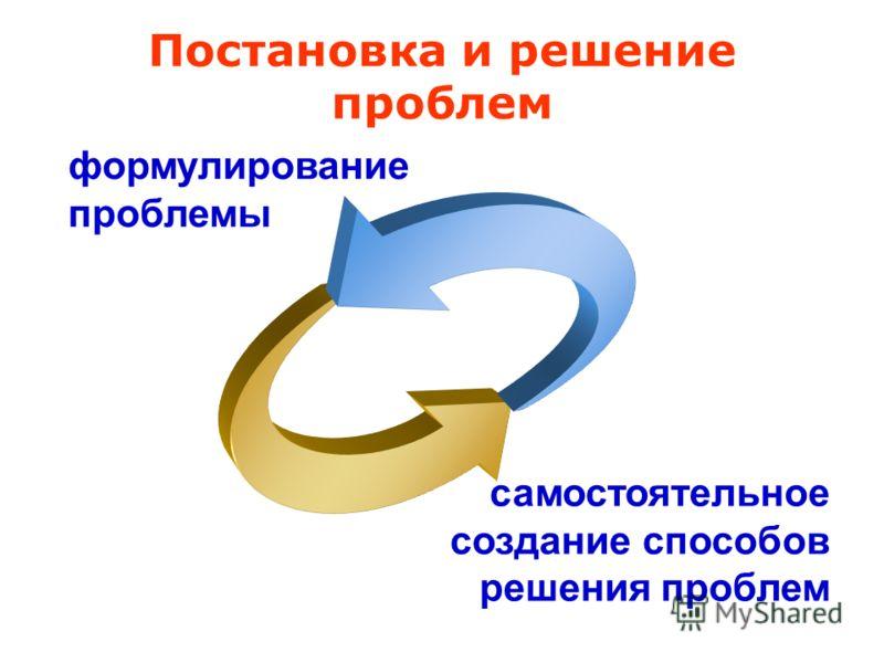 формулирование проблемы самостоятельное создание способов решения проблем Постановка и решение проблем