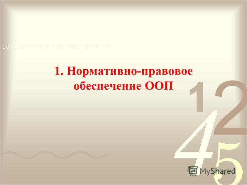 1. Нормативно-правовое обеспечение ООП 41