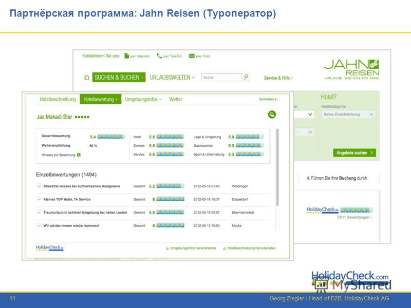 11Georg Ziegler | Head of B2B, HolidayCheck AG Партнёрская программа: Jahn Reisen (Туроператор)