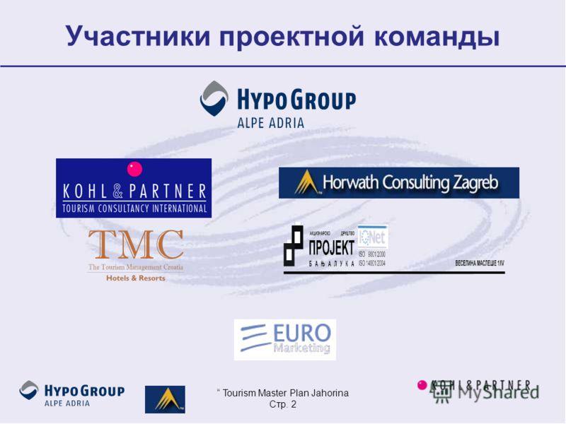 Tourism Master Plan Jahorina Стр. 2 Участники проектной команды
