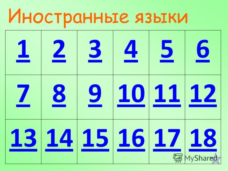 123456 789101112 131415161718 Иностранные языки