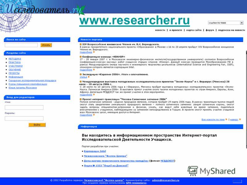 www.researcher.ru