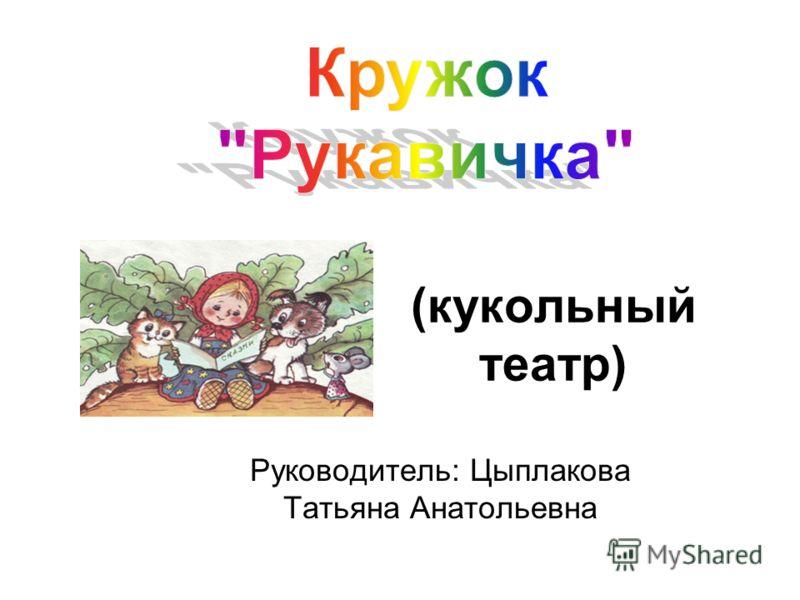 (кукольный театр) Руководитель: Цыплакова Татьяна Анатольевна