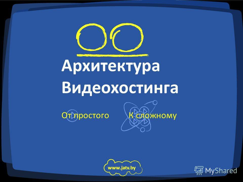 Архитектура Видеохостинга От простого www.jatv.by К сложному
