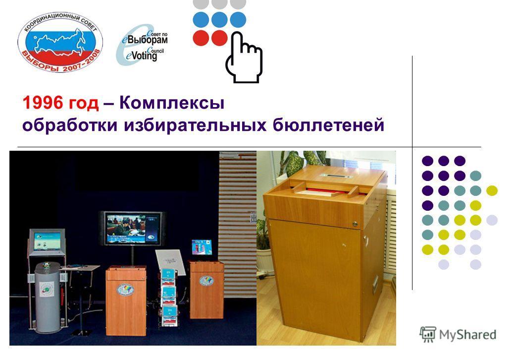 1996 год – Комплексы обработки избирательных бюллетеней