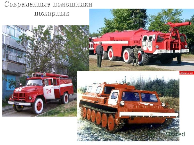 Современные помощники пожарных