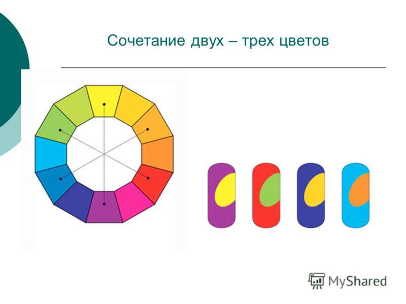 Сочетание двух – трех цветов