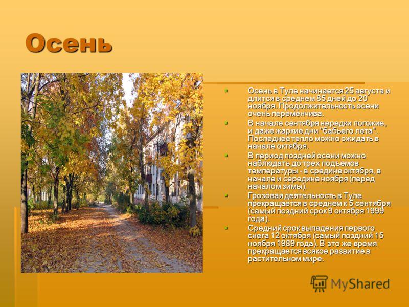 Очень переменчива осень в туле