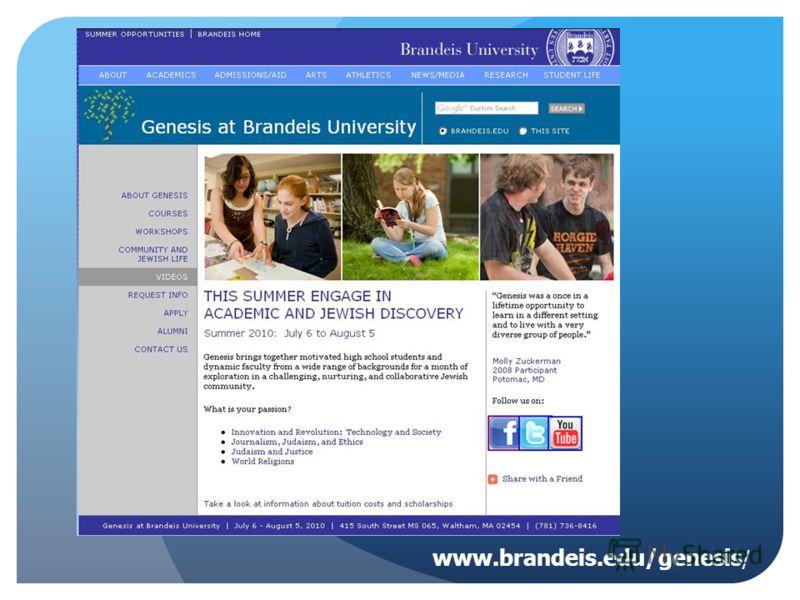 www.brandeis.edu/genesis /