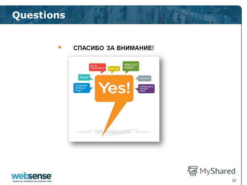 Questions 24 СПАСИБО ЗА ВНИМАНИЕ!