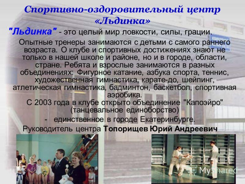 Спортивно-оздоровительный центр «Льдинка»