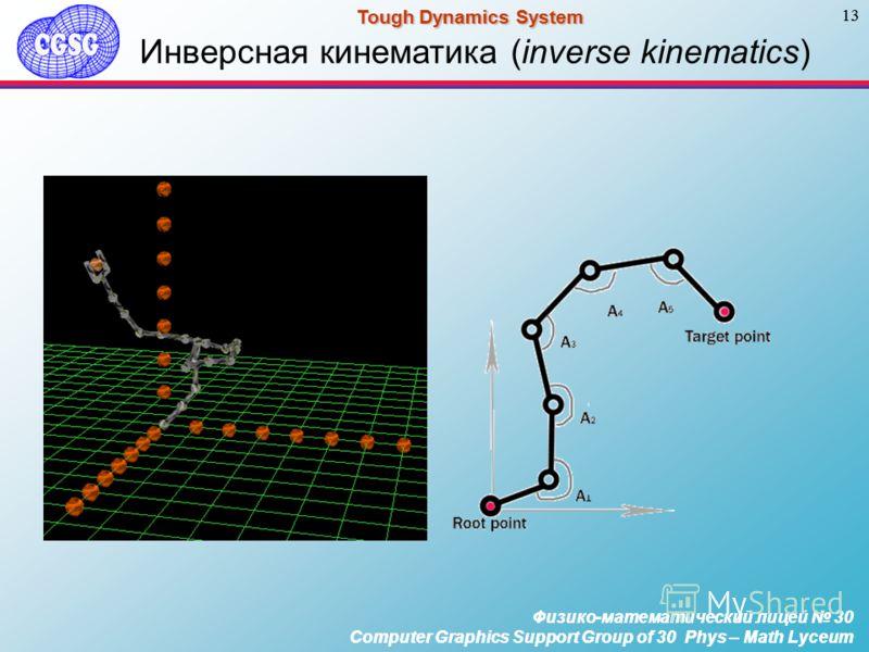 Физико-математический лицей 30 Computer Graphics Support Group of 30 Phys – Math Lyceum 13 Tough Dynamics System Физико-математический лицей 30 Computer Graphics Support Group of 30 Phys – Math Lyceum 13 Tough Dynamics System Инверсная кинематика (in