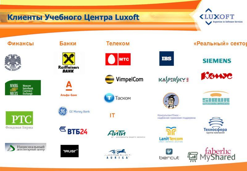 IT Финансы«Реальный» секторТелекомБанки Клиенты Учебного Центра Luxoft