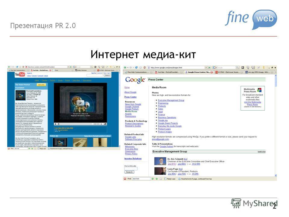 Интернет медиа-кит 2 Презентация PR 2.0