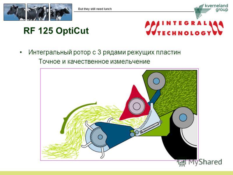 But they still need lunch RF 125 OptiCut Интегральный ротор с 3 рядами режущих пластин Точное и качественное измельчение