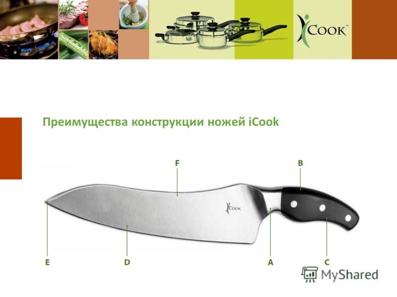 Преимущества конструкции ножей iCook