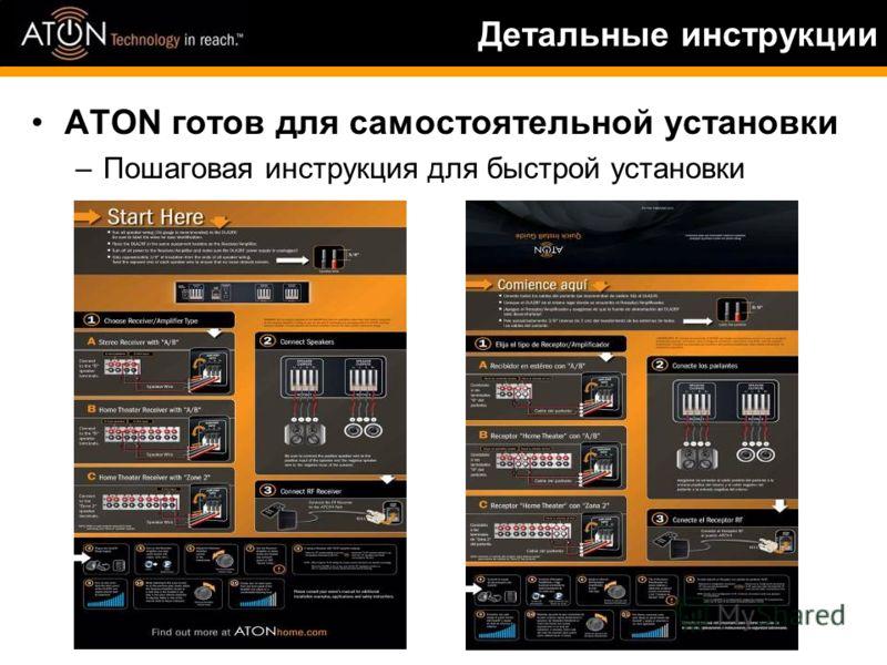 Детальные инструкции ATON готов для самостоятельной установки –Пошаговая инструкция для быстрой установки