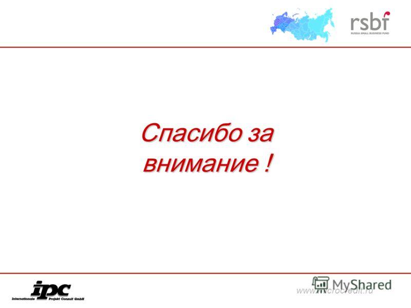 Спасибо за внимание ! www.microcredit.ru