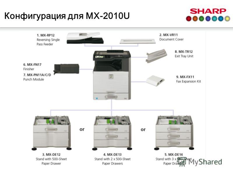 Конфигурация для MX-2010U